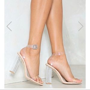 Nasty Gal lets be clear heels